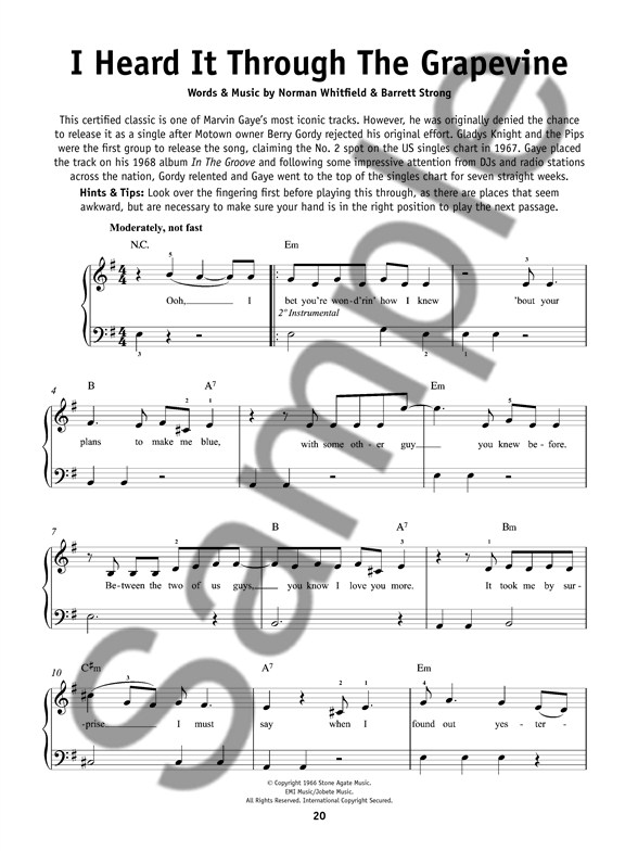 Really Easy Piano Motown Hits Piano Sheet Music Sheet Music