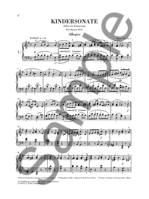 Robert Schumann Three Piano Sonatas For The Young Op118 Urtext