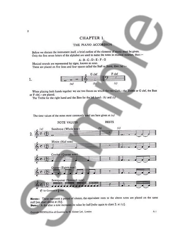 The Concise Piano Accordion Tutor Accordion Books Tuition