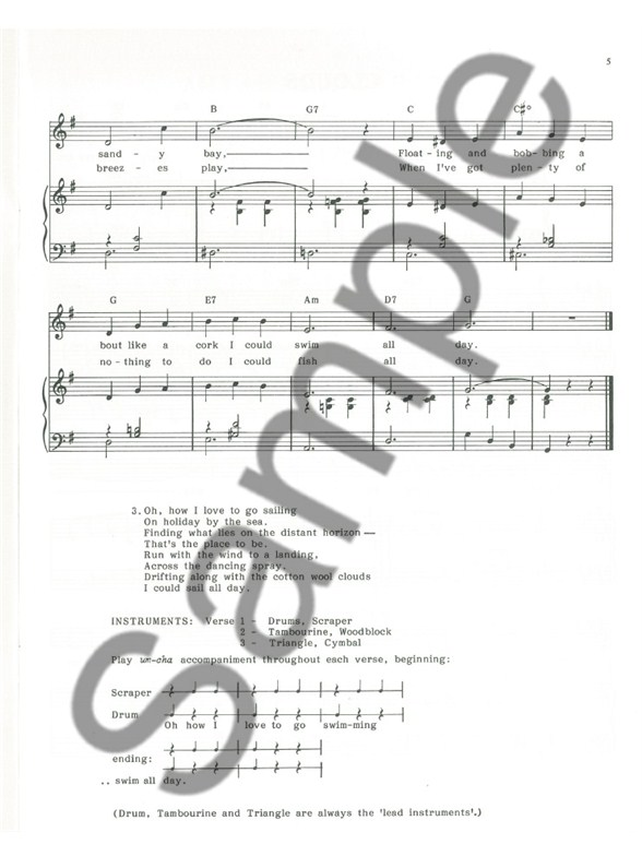 Donald Clive Swim Little Fish Piano Vocal Guitar Sheet Music Sheet Music Songbooks