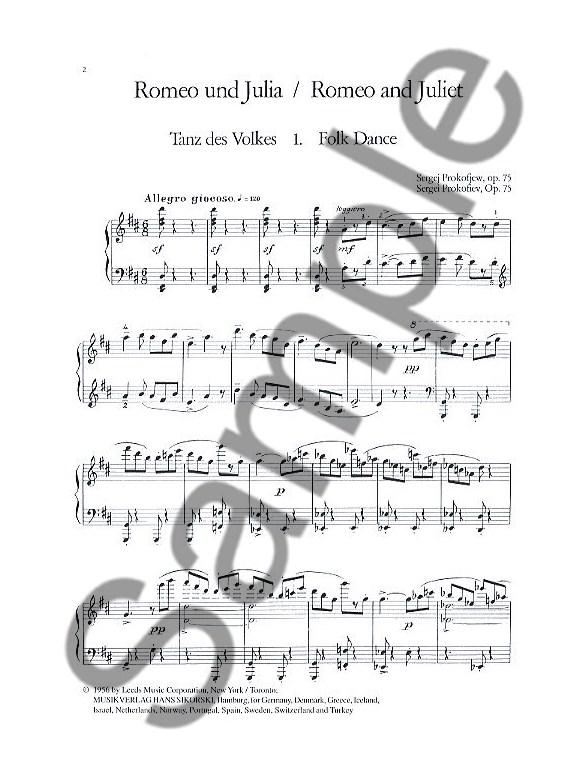 sergei prokofiev  10 pieces op 75  romeo and juliet