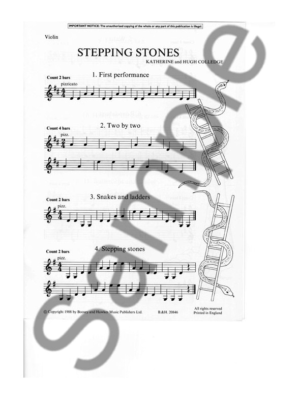 stepping stones  violin part  - book and cd - violin books