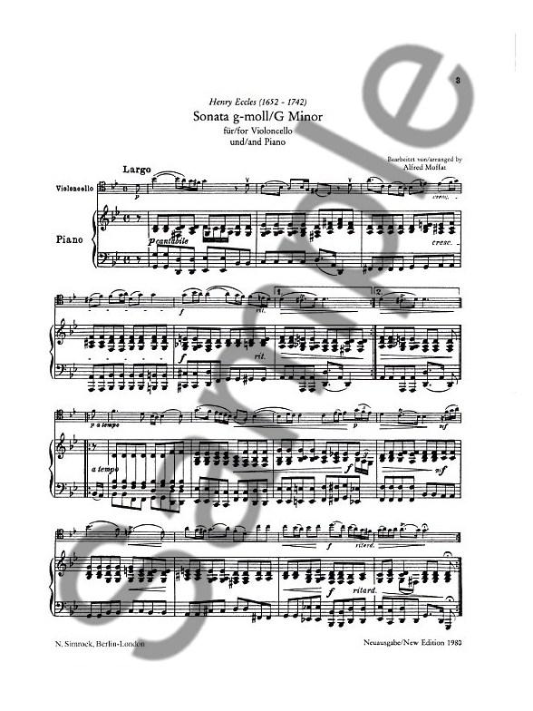 h eccles sonata g minor