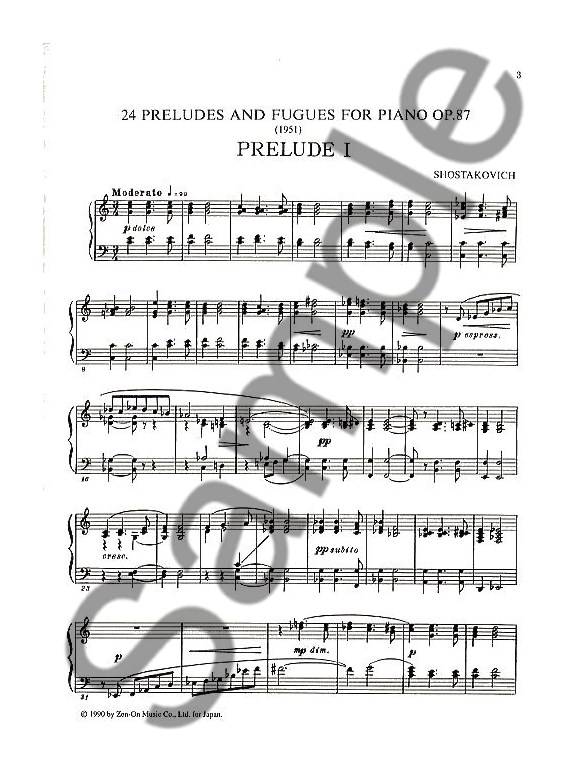 Shostakovich 24 preludes and fugues