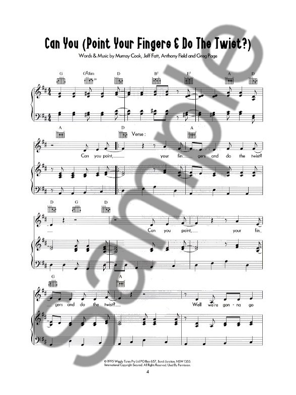 Play Piano With...The Wiggles - Piano, Vocal & Guitar Sheet Music ...