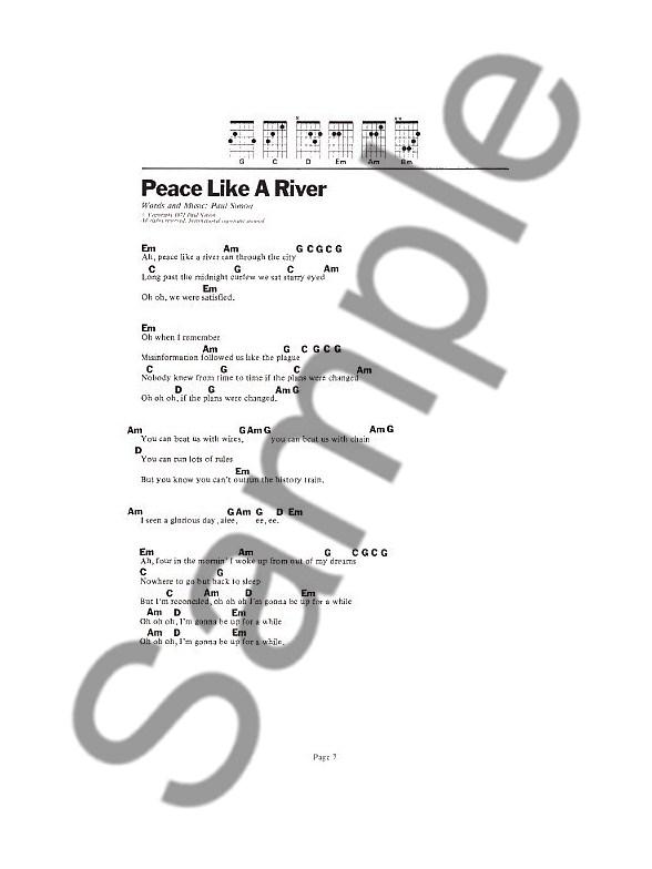 Paul Simon The 6 Chord Songbook Lyrics Chords Sheet Music