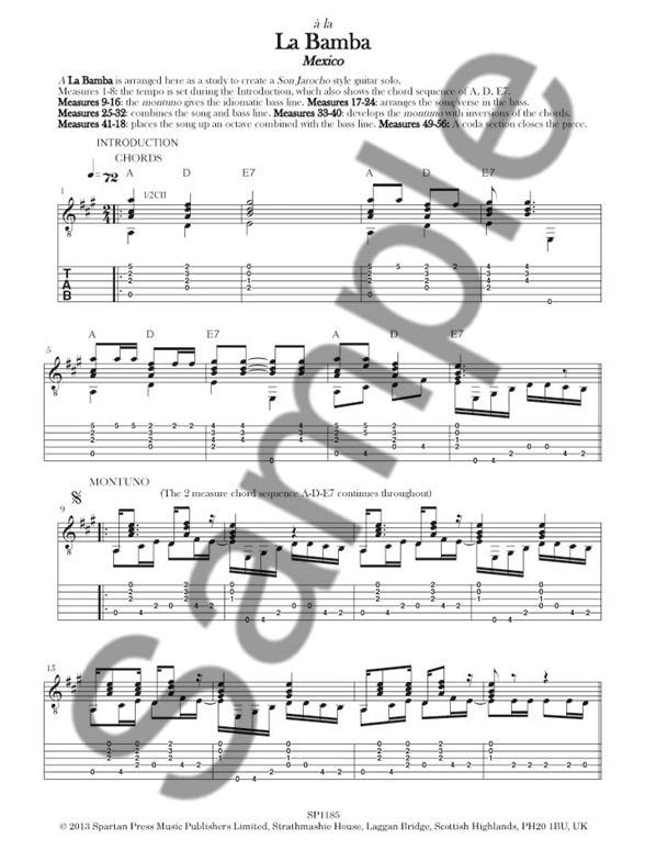 Essential Latin Collection For Guitar - Volume 2 - Guitar Sheet ...