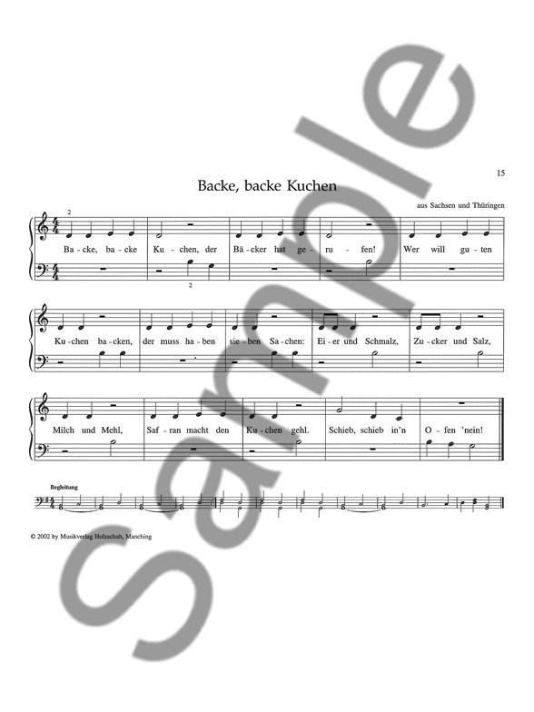 Anne Terzibaschitsch Meine Allerersten Kinderlieder Klavier Noten