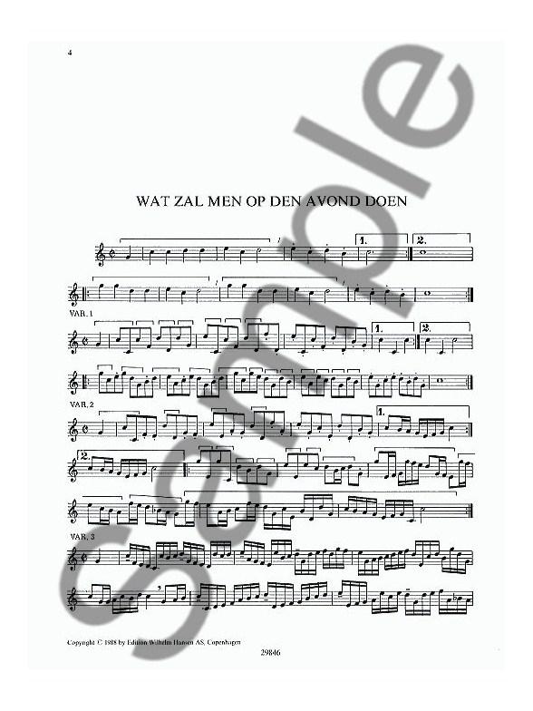 jacob van eyck  8 variations for recorder