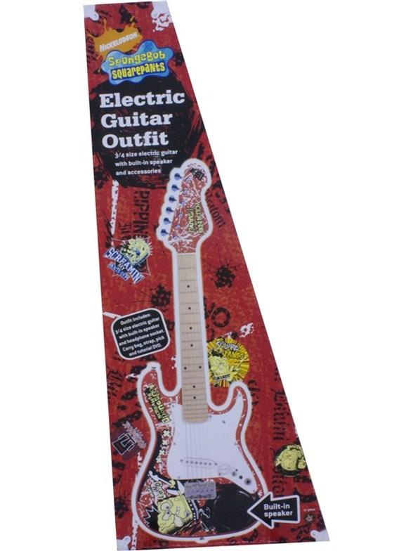 spongebob squarepants 3 4 size electric guitar with built in amplifier john hornby skewes. Black Bedroom Furniture Sets. Home Design Ideas