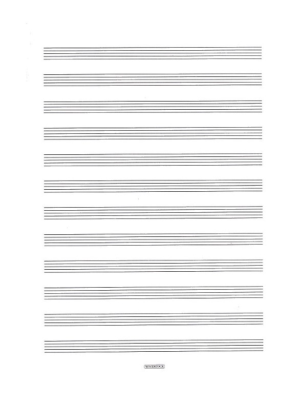 Woodstock music manuscript paper 12 stave 32 pages a4 for Music manuscript template