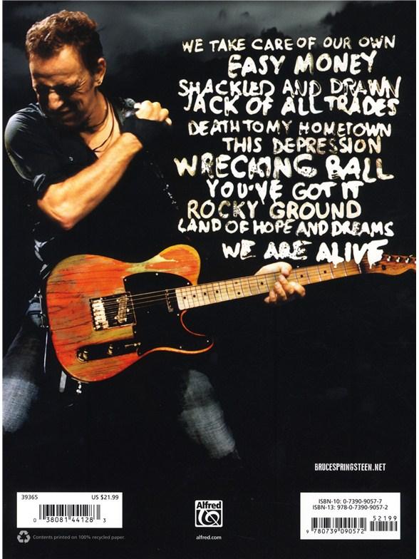 Bruce Springsteen: Wrecking Ball - Guitar Sheet Music - Sheet Music ...