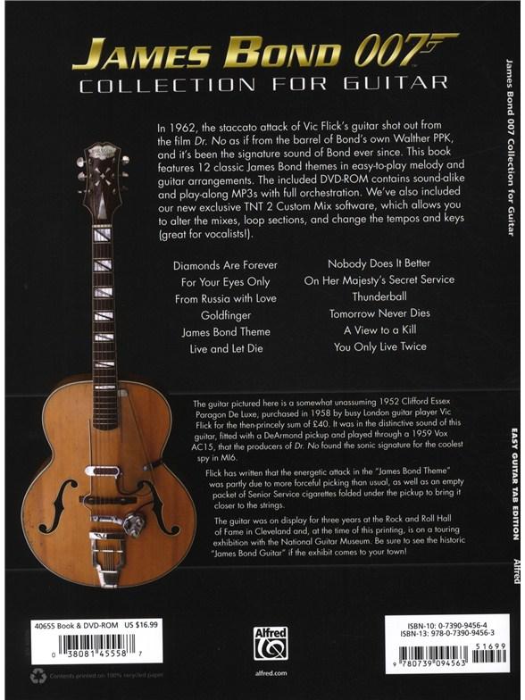james bond 007 collection for guitar guitar sheet music sheet music songbooks. Black Bedroom Furniture Sets. Home Design Ideas