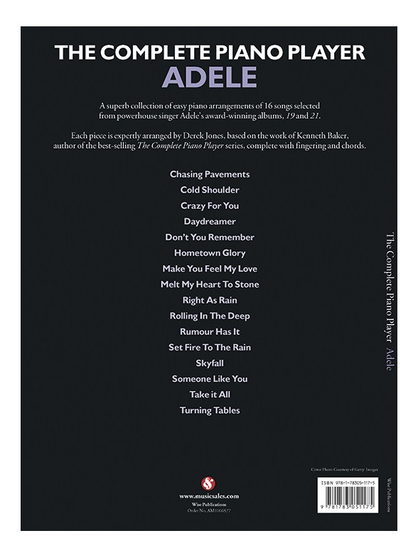 The Complete Piano Player Adele Piano Sheet Music Sheet Music