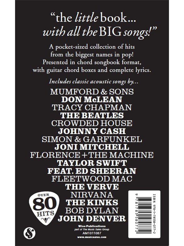 The little black songbook great acoustic songs guitar sheet music the little black songbook great acoustic songs guitar sheet music sheet music songbooks musicroom stopboris Images