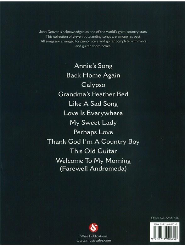 The Great Songs Of John Denver - Piano, Vocal & Guitar Sheet Music ...