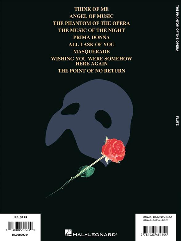 Andrew Lloyd Webber: The Phantom of the Opera (Flute) - Flute Sheet ...