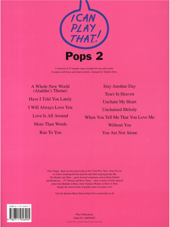 I Can Play That! Pops 2 - Lyrics & Chords Sheet Music - Sheet Music ...
