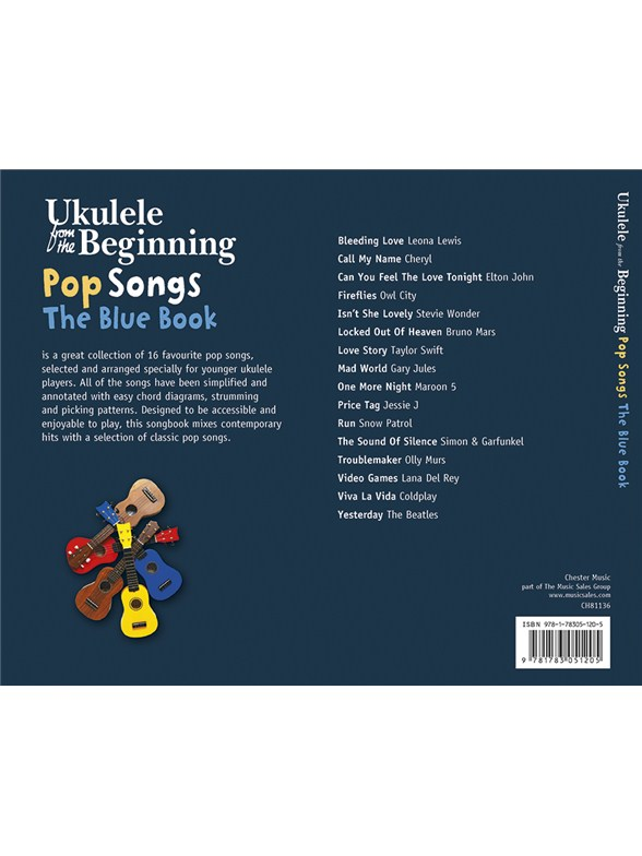 Ukulele From The Beginning Pop Songs Blue Book Ukulele Sheet