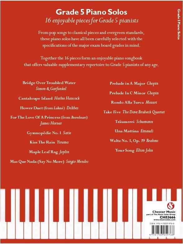Grade 5 Piano Solos - Piano Sheet Music - Sheet Music & Songbooks ...