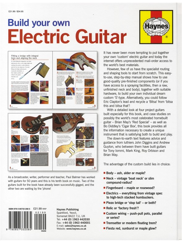paul balmer build your own electric guitar books books about music. Black Bedroom Furniture Sets. Home Design Ideas