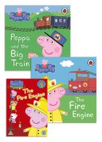 Peppa Pig Fire Engine Books & DVD at Unique Magazines
