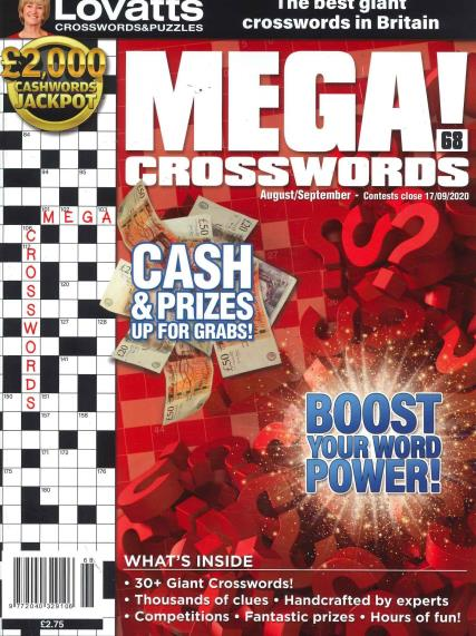 Lovatts Mega Crosswords magazine