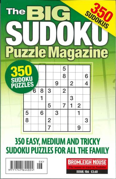 Find every shop in the world selling killer sudoku magazine