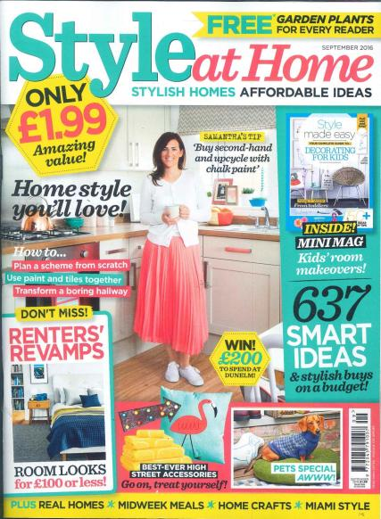 Subscribe to style at home magazine house design plans for Home design magazine subscription