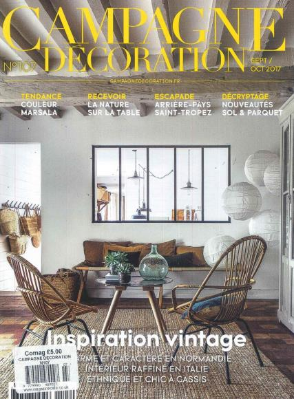 campagne decoration magazine subscription. Black Bedroom Furniture Sets. Home Design Ideas