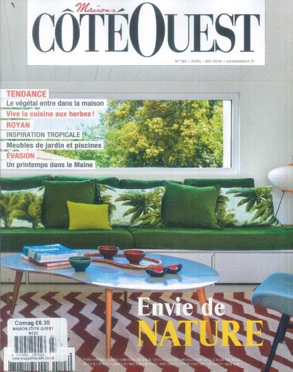 maison cote ouest magazine subscription. Black Bedroom Furniture Sets. Home Design Ideas