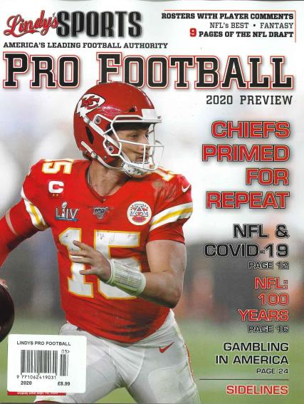 Lindy's Sports Pro Football Preview magazine