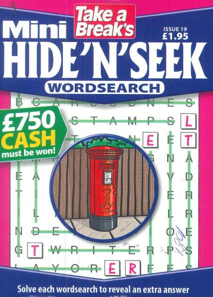 Take a Break's Mini Hide n Seek Wordsearch magazine