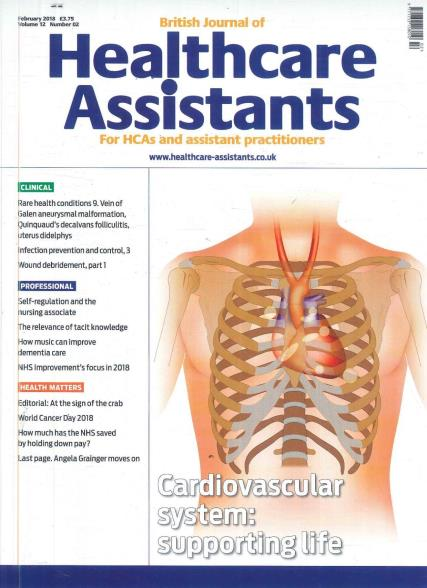 British Journal of Healthcare Assistants magazine