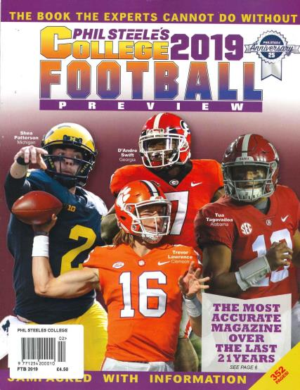 Phil Steele's College Football Preview 2018 magazine