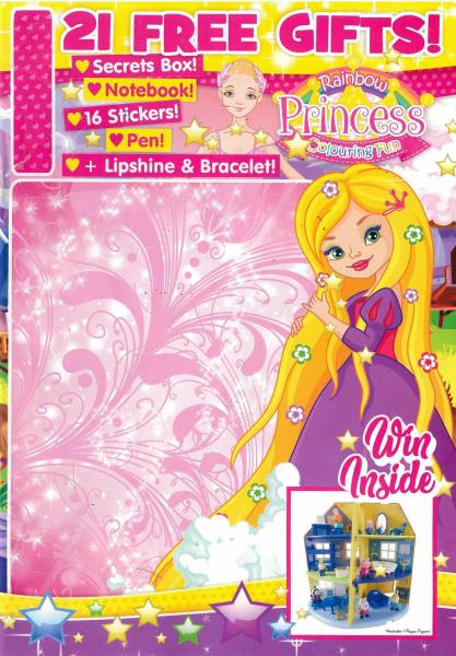 Rainbow Princess Colouring Fun magazine