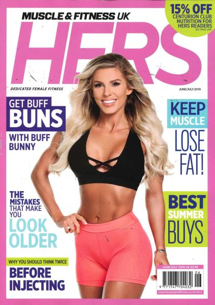 Muscle and Fitness Hers magazine