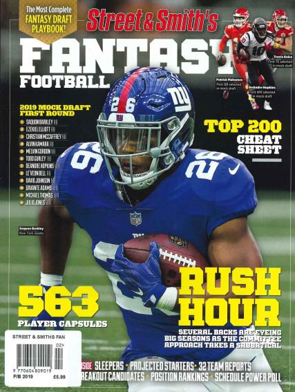 Street & Smiths Fantasy Football magazine