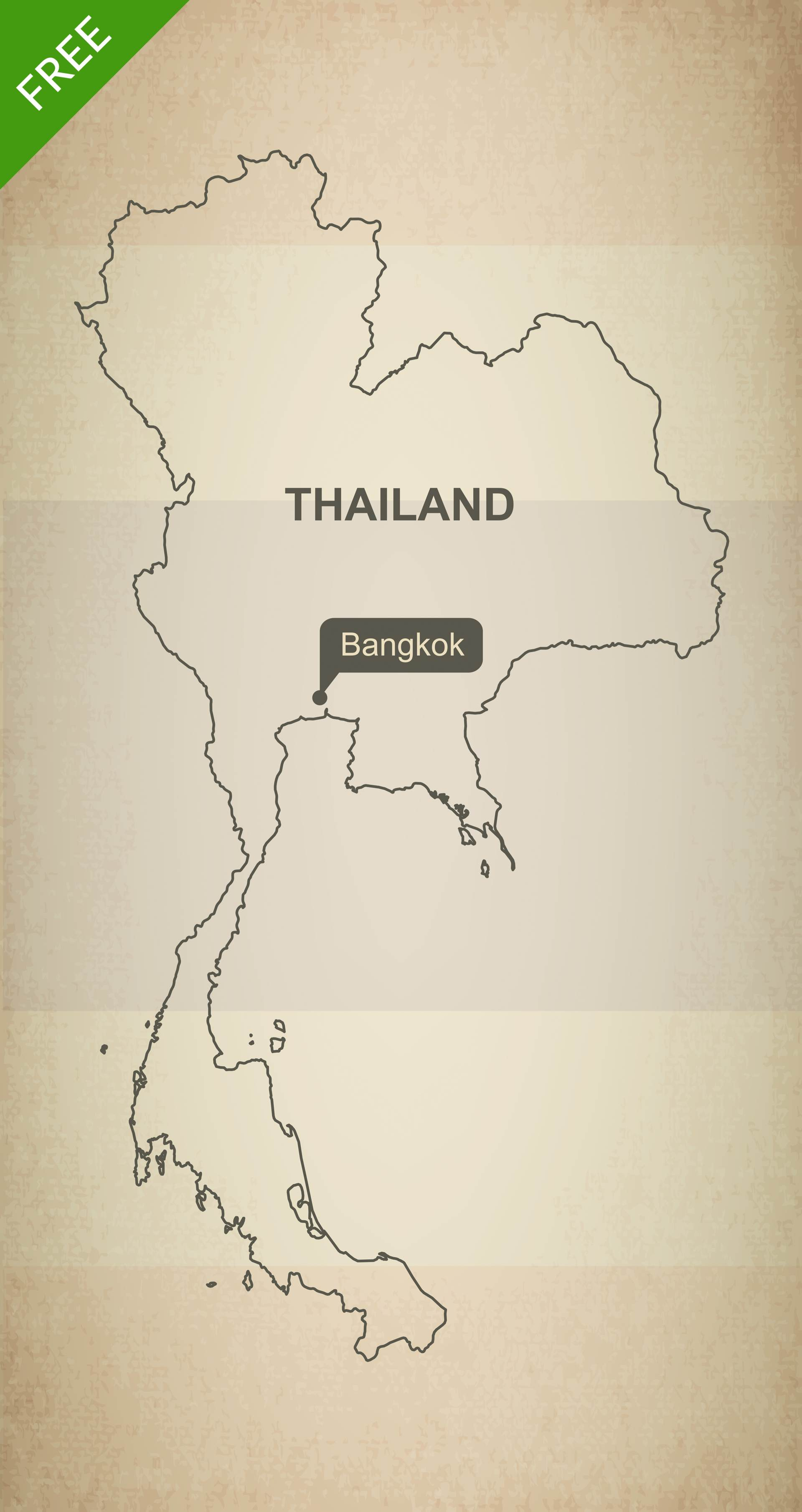 One Stop Map - Vector Maps  Royalty Free  Editable  On BudgetThailand Map Outline