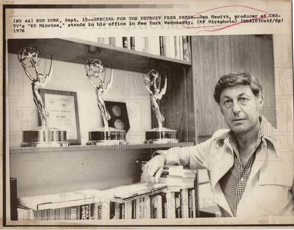 Press Foto de 1976. Imágenes históricas- Don Hewitt creador de 60 Minutos para la CBS.
