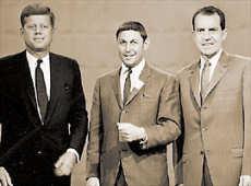 primer debate presidencial de la historia de la televisión entre John F. Kennedy y Richard Nixon
