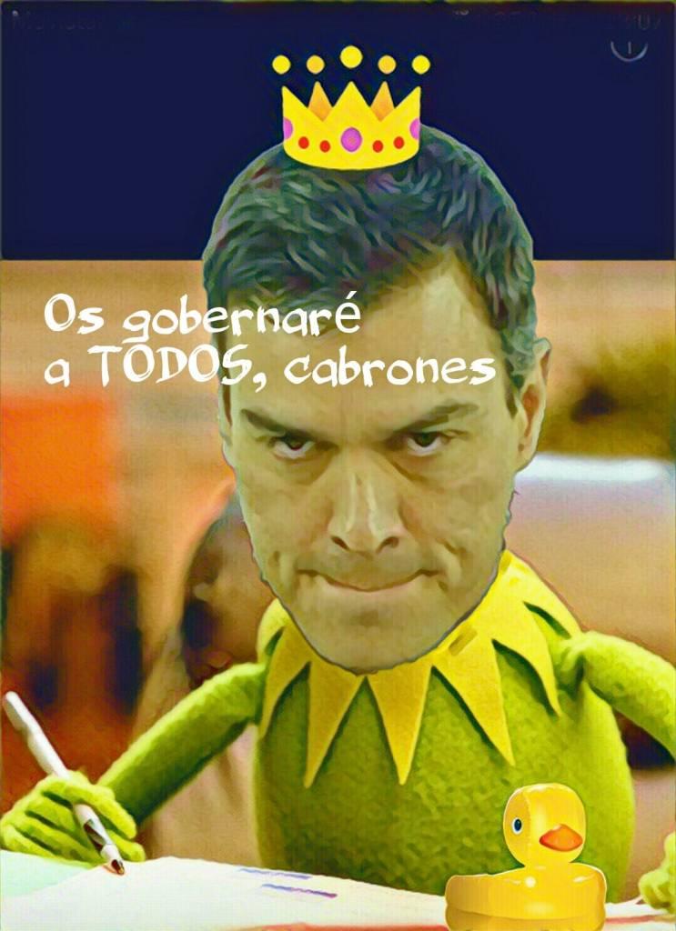 Os gobernaré a todos cabrones. El problema de Sánchez es Sánchez. Por LInda Gamor.jpg
