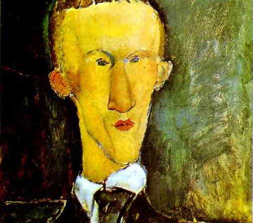 retrato de Blaise Cendrars. Modigliani.