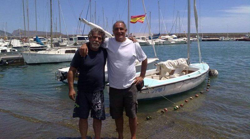Pablo Blanco con Manuel Artero junto al Juno