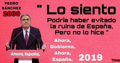 Lo siento, pero dejo España en la ruina