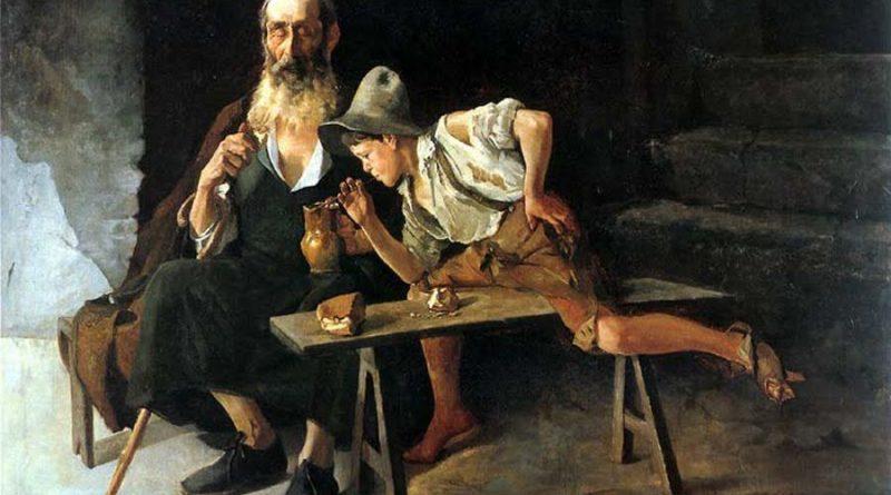 Luis Santamaría Pizarro (Madrid, 1884 - 1912) E. ciego y las uvas.