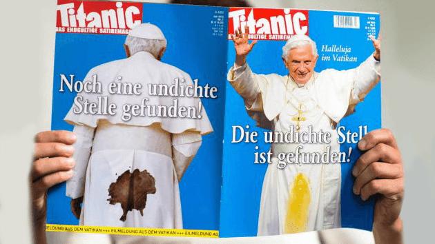 """El chiste sobre el Papa del """"Titanic"""""""