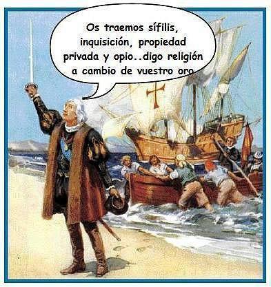 Cristobal Colón etiquetado por los sectarios que tergiversan la historia