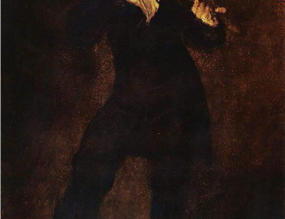 Reatrato de Paganini. Eugene Delacroix, 1832