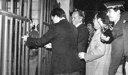 Apertura de la verja de Gibraltar en 1982